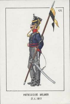 Officer, 5th Uhlanen 1815