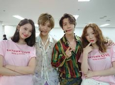 Yoona x Yesung x Donghae x Taeyeon Leeteuk, Heechul, Lee Donghae, Siwon, Red Velvet Smtown, Exo Red Velvet, Kpop Girl Groups, Korean Girl Groups, Kpop Girls