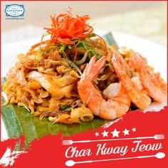 This stir fried rice noodles with dark soy and shrimp paste is an incredible mélange of exotic flavours! Char Kway Teow is definitely on our must-eat list, is it on yours? #FoodieTravels #ExploreFourCorners