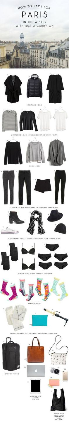How to Pack for Paris in Just a Carry-On by paulina.v.ibarra