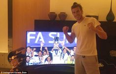 Gareth Bale watched from his home and posted an Instagram picture congratulating his team