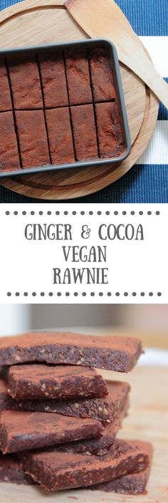 Cocoa & Ginger Rawnie | Raw Vegan Brownie Recipe