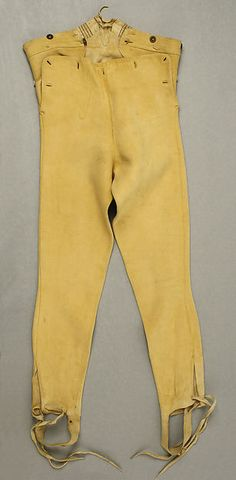 Breeches, leather. 1800-1810. Met museum