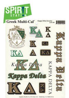 13b575c3f886 Kappa Delta Multi-Cal   Sticker Sheet Kappa Delta Sorority