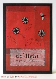 """Red """"Delight"""" card"""