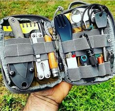 Everyday Carry Pouch - Raven Survival Prep Camping is a superb time to get back to the basics, without distractions. Among the best and most important aspects of camping is how it helps you build and reinforce relationships. Bushcraft Camping, Bushcraft Gear, Camping Survival, Outdoor Survival, Bushcraft Skills, Wilderness Survival, Survival Tools, Survival Prepping, Survival Quotes