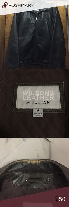 Wilsons Leather brown leather jacket. Wilsons Leather brown leather jacket. Some wear on collar and sleeve openings (in pictures). Wilsons Leather Jackets & Coats