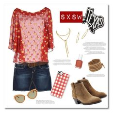 """""""Pack and Go: SXSW"""" by tre0911 ❤ liked on Polyvore featuring Bongo, Maison Laviniaturra, Burberry, Primitives By Kathy, Miu Miu, Jennifer Meyer Jewelry, Chan Luu, Casetify, Essie and festivalstyle"""