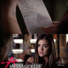 k likes comments pretty little liars prettylittleliars message from a copy of aria s entire essay sent to aria eth159147131 111 of 150 season episode