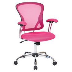 Give your office a look with pink office chair Ave Six Juliana Task Chair Pink Mesh - Office Star : Target Long Chair, Mesh Office Chair, Office Chairs, Mesh Chair, Office Nook, Pink Office, Layout, Cool Chairs, Pink Chairs