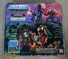 Masters of the Universe MOTU Fright Zone playset Retro Toys, Vintage Toys, Gi Joe, Cartoon Tv Shows, Cartoon Toys, He Man Figures, 1980 Cartoons, Master Of The Universe, Midtown Comics