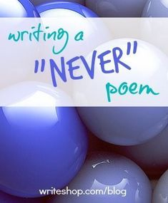 "Write a silly ""Never"" poem with your kids to celebrate National Poetry Month!"