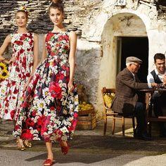 @stefanogabbana Gorgeous @paulinehoarau and @birgitkos walking under the Italian sun wearing #ITALIAISLOVE, photographed by @lucamariamorelli with the art direction of @alessandromariamorelli for a special issue of @hiamag ❤️❤️❤️❤️#italiaislove❤️ #puglia #alberobello