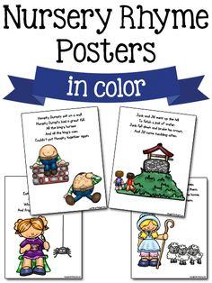 Nursery Rhyme Posters: Free Printables