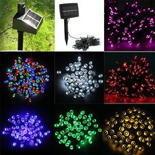 New 7 Colors 100/200 LED Garden Christmas Party Solar String Lights Fairy Lamp