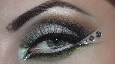 New Year's Eve Makeup: Silver With Jewels