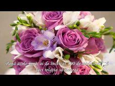 ÎN DRAGOSTE SĂ NU TE TEMI - YouTube Happy Wishes, Happy Birthday Wishes, Birthday Desserts, Diy Birthday, Beautiful Flower Arrangements, Beautiful Flowers, An Nou Fericit, Happy Aniversary, Phonics Reading
