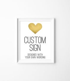 Your Custom Text Poster // Wedding Sign DIY // by JadeForestDesign