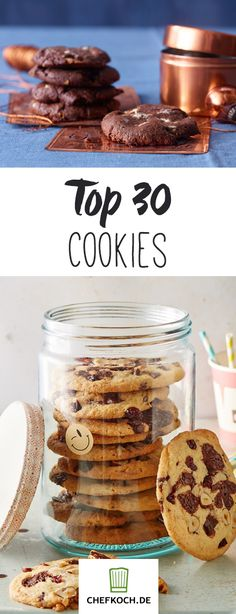 Cookies - 30 Rezepte für die leckeren Kekse