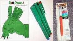 Bell Pentel et le Bic 4 couleurs