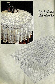 Belles choses cardiaques: Crochet: nappe ronde d'un vieil album