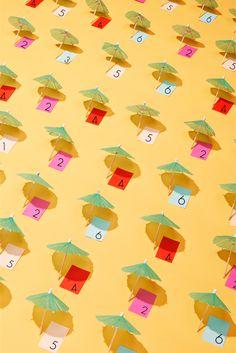 DIY Umbrella Place Cards / Escort Cards
