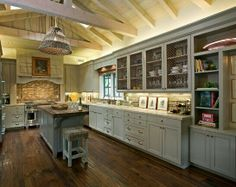 Kitchen - love the height, the color and the tall cabinets