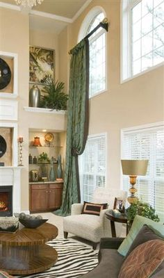 Dramatic look for tall windows. We can help you do that -- www.budgetblinds.com/southorlando