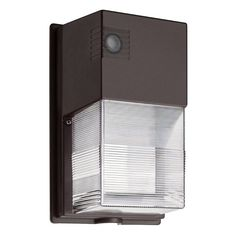 Lithonia Lighting 240HEH Wall Mount Outdoor LED Wall Pack Light, Black-Bronze, Bronze