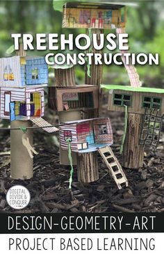Treehouse Construction, A Project Based Learning Activity (PBL) - Kunstunterricht Project Based Learning, Fun Learning, Learning Activities, Problem Based Learning, Early Learning, Math Projects, School Projects, 5th Grade Math, Sixth Grade