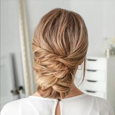 Short Hair Styles Easy, Medium Hair Styles, Curly Hair Styles, Hair Medium, Easy Hairstyles For Medium Hair, Fancy Hairstyles, Wedding Hairstyles, Long Hair Updos, Braid Hairstyles