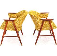 Mustard teak chairs