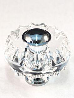 Cal Crystal M51 Crystal 1-3/4 Inch Diameter Mushroom Cabinet Knob Clear Cabinet Hardware Knobs Mushroom
