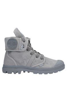 Palladium Pallabrouse Baggy Black Metal Men Canvas Foldable Ankle Mid-Calf Boots