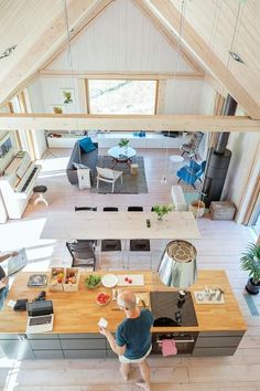 Photo: Gunilla Welin Source by Barn House Plans, Small House Plans, Home Interior Design, Interior Architecture, Long House, Barn Renovation, A Frame House, Tiny House Cabin, Industrial House