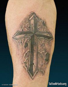 Stone cross - Tattoo Artists.org