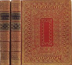 by Roger Payne  late 1700s  What Fine Detail  His general style was toward a richly tooled spine contrasting with clean, simple and elegantly decorated boards. If the book demanded it, however, he would go all out. Yet some of his bindings are decoratively quite spare, often with only a single gilt ruled border.
