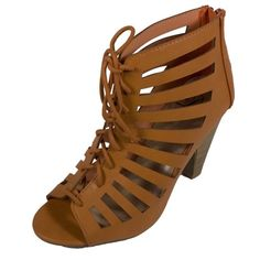 Tan Heels Tan heels, Worn once great condition! Comes with box. Heel height: 3.75 in. Shoes