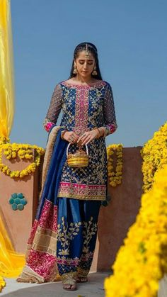 DESIGNER Light Party Wear And Formal Wear at Retail and whole sale prices at Pakistan's Biggest Replica Online Store Asian Wedding Dress Pakistani, Desi Wedding Dresses, Pakistani Formal Dresses, Pakistani Dress Design, Pakistani Outfits, Party Wear Dresses, Indian Dresses, Party Dress, Mehendi Outfits