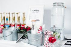 Check out these five fun & easy unforgettable food themes for your graduation party. They're unique and fun to both put together and eat! Graduation Party Centerpieces, Graduation Party Decor, Grad Parties, Graduation Ideas, Graduation Gifts, Italian Soda Bar, Italian Cream Soda, Drink Display, Amigurumi