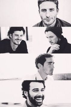 Dean O'Gorman, Luke Evans, Orlando Bloom, Lee Pace & Aidan Turner