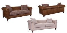 Bracken Sofa This sofa is a beautiful design that combines the classic look of the Chesterfield sofa without the traditional tufting.  The clean lines and great scale make it very versatile.  Depending on fabric selection, the Bracken sofa can work in transitional settings, traditional rooms, or modern atmospheres.