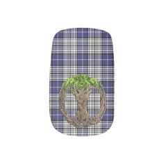 Shop Clan Napier Tartan And Celtic Tree Of Life Minx Nail Art created by thecelticflame.