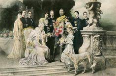 Ferdinand Keller - Group portrait of the Imperial family
