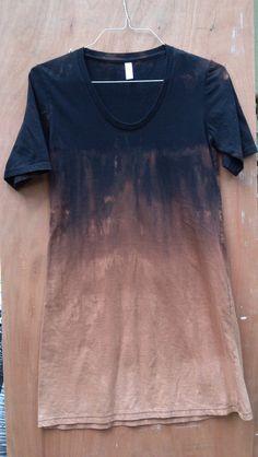 t shirt dress ombre dye 100% cotton tie dye dress casual wear american apparel short sleeve dress reverse dye bleach dye dip dye hippie