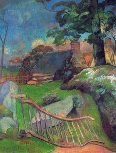 PAUL GAUGUIN (French Post-Impressionist: 1848-1903) Sus obras influyeron en la evolución de la pintura, tanto en Picasso como en el expresionismo alemán, y tuvieron especial impacto sobre el fauvismo (movimiento que se desarrolla entre 1898 y 1908) / La Barrire, 1889 / Flickr