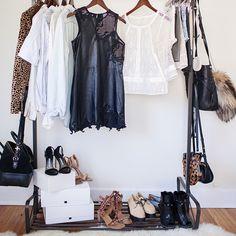 #black #white staple wardrobe colours