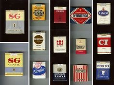old cigarette packs