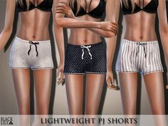 Sims 4 Updates: TSR - Clothing, Female : Lightweight PJ Shorts by Black Lily, Custom Content Download!
