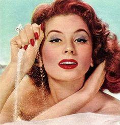 vintage hair & makeup 1956  model Suzy Parker